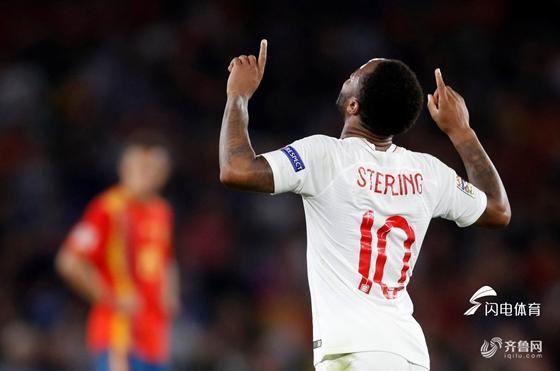 欧国联-斯特林梅开二度 英格兰3-2客胜西班牙