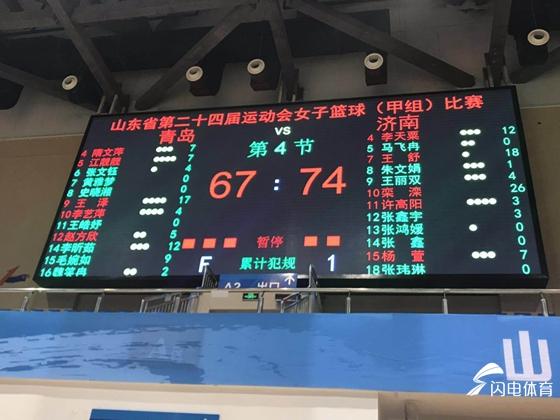 省运会女篮决赛 济南夺冠青岛位居亚军