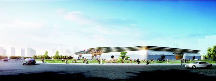 """菏泽市展览中心""""雏形初现""""设计五个展厅,总面积33601平方米;预计明年8月完工"""