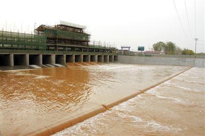聊城:位山引黄闸引黄入冀调水工程开闸放水