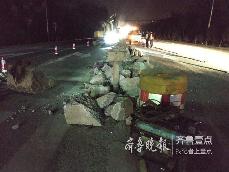 注意啦!济南103省道一路口正在拓展施工