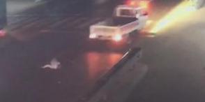 桓台一老人过马路被撞 又连遭后车碾轧