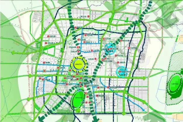 中心城区河湖水系规划结构