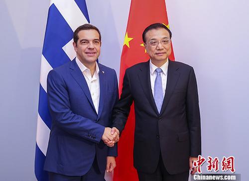 李克强晤希腊总理:推动以比雷埃夫斯港为标志的务实合作不断取得新成果