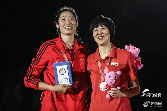 女排世锦赛最佳阵容:朱婷最佳主攻 颜妮最佳副攻