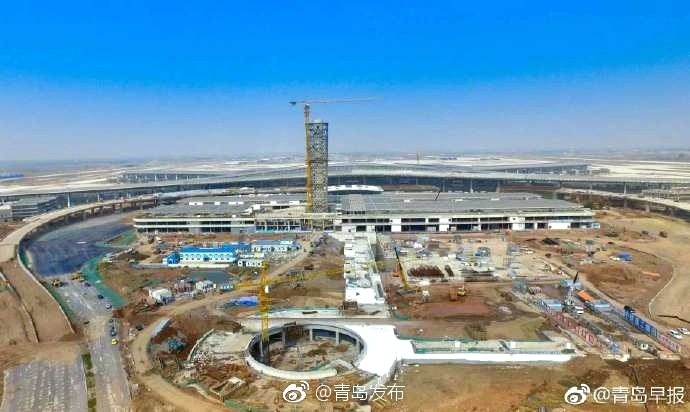震撼!青岛胶东国际机场最新现场图曝光