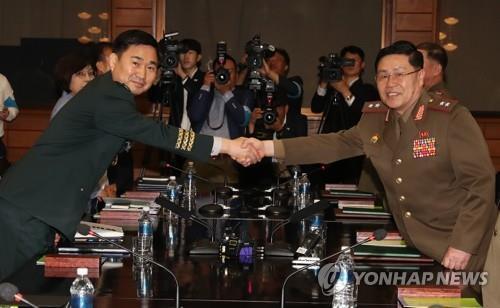 韩朝将举行将军级军事会谈 双方代表团各由5人组成
