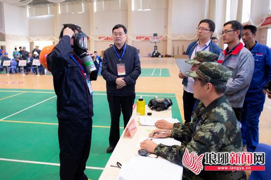 临沂举办安全生产应急救援技能竞赛 26只队伍竞技