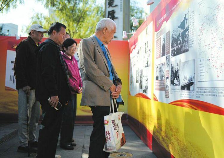 150余幅济南战役老照片亮相宽厚里 下周二前市民均可到现场追忆那段血色历史