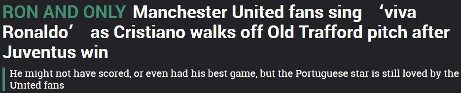 曼联球迷高唱C罗万岁,总裁向他们鼓掌致意