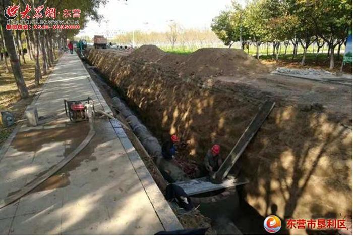 垦利区城市管理局全力推进城区雨污分流改造工程