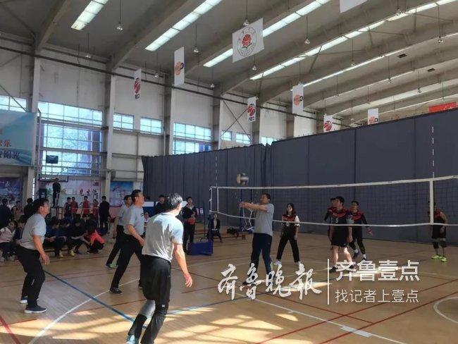 菏泽第八届全民健身运动会气排球比赛开赛
