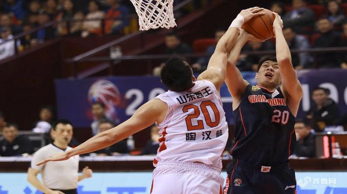 山东96比120负于广东 陶汉林19分11个篮板表现出色