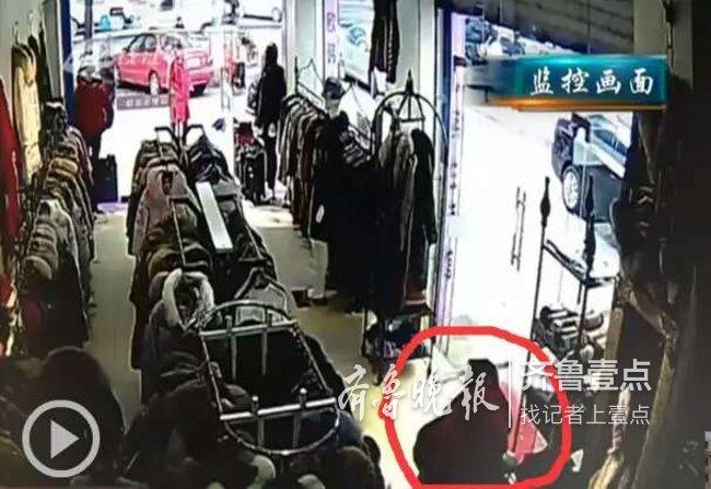 """自称偷衣为送人,济南多服装店遭一女子频频""""光顾"""""""