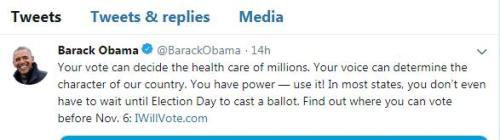 中期选举倒计时一周 奥巴马呼吁选民踊跃投票