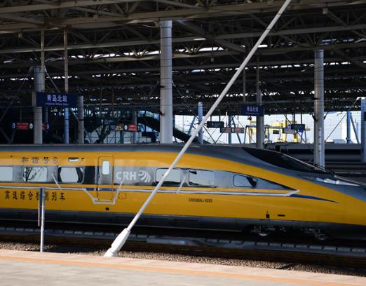 济青高铁青岛段开始跑车测试 最高时速300公里