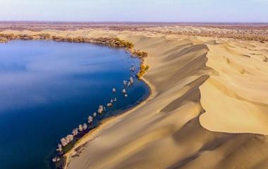"""【美丽中国】走!到沙漠看""""海""""去"""