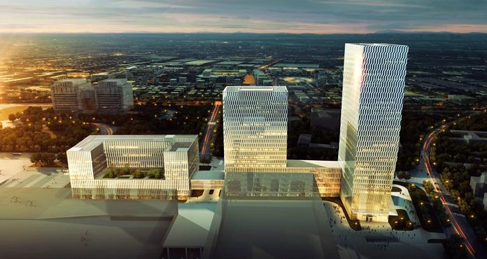 首发:崂山崛起142.5米高楼 国信金融中心2020年竣工