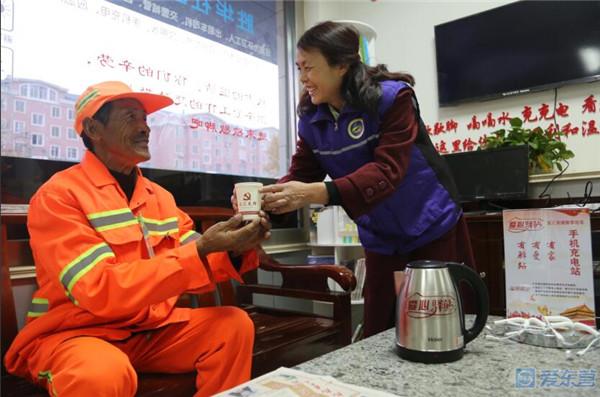 东营中心城30个社区建成爱心驿站 已陆续投入使用
