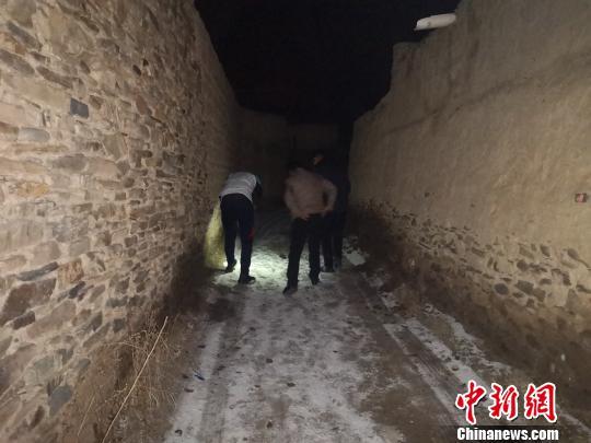 """青海通天河流域人口较多区域首次记录到雪豹""""进城""""画面"""