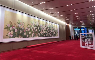 菏泽巨野牡丹画亮相首届进博会共享大厅
