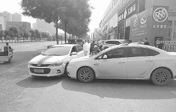 济南:共享汽车逆行撞别克车,维修费起纠纷