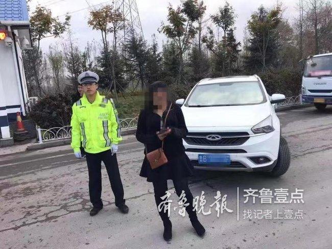 作!刚考完科三女子在高速练车,自己被罚还连累了丈夫