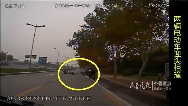 路遇两辆电动车相撞,老人受伤!公交司机果断打120
