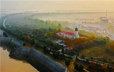 飞吧山东|黄河黄!初冬来临黄河岸边秋景烂漫