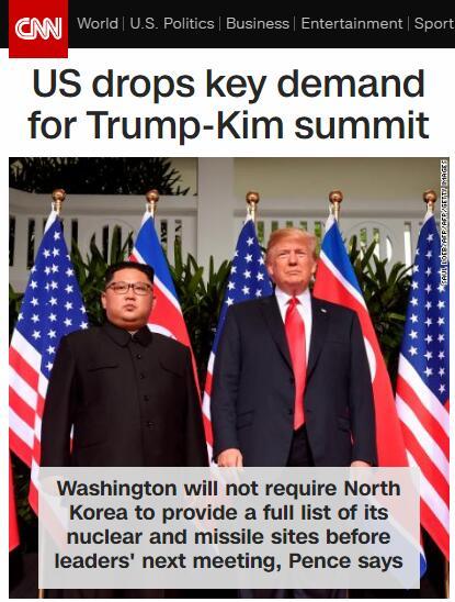 """美朝僵局美国先""""眨眼""""? 美国副总统提对二次""""金特会""""要求"""