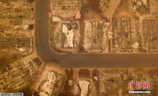 美加州野火致71死1000余人失踪 火灾引发严重空气污染
