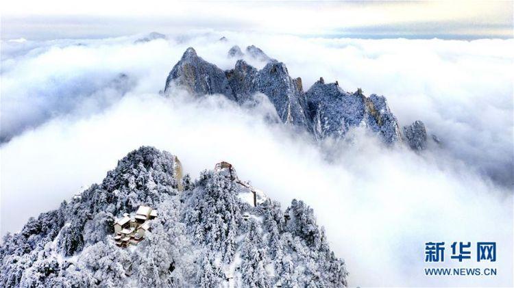 雪后华山绘就冬日画境