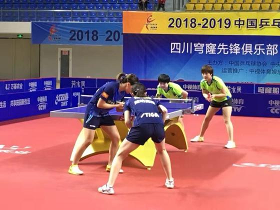乒乓鲁能女队客场3:0胜四川取五连胜