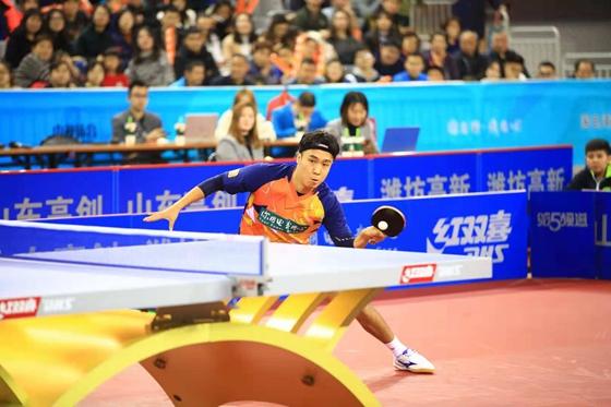 乒乓鲁能男队主场3:2胜江苏