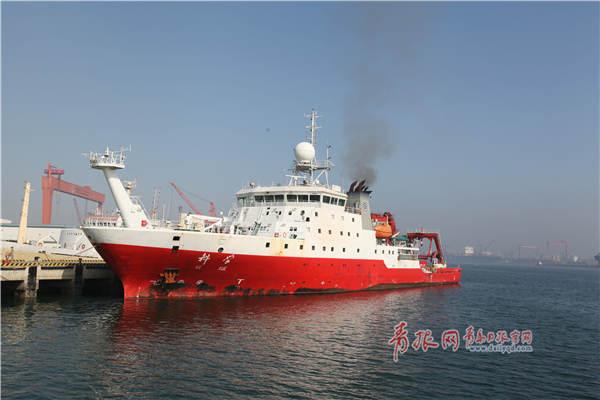"""""""科学""""号航赴西太平洋执行任务 明年2月返青(图)"""