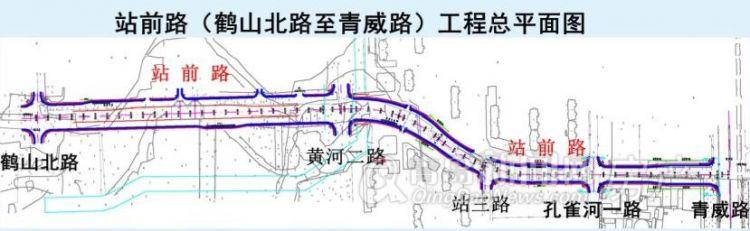 新规划:青荣城际铁路即墨站前路(鹤山北路至青威路)