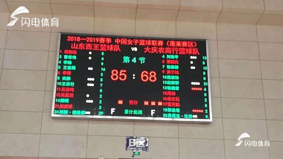 王思雨16分 山东西王女篮85-68力克大庆豪取三连胜