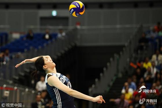 李盈莹36分天津女排3-1江苏 夺排超八强赛开门红