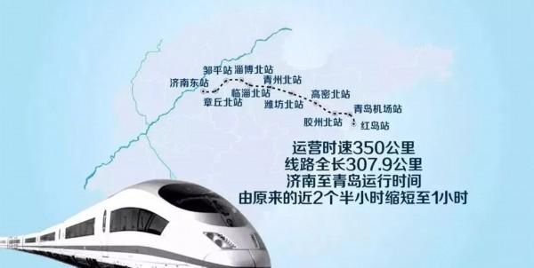 济青高铁来了!青岛人1小时抵达这13个市区