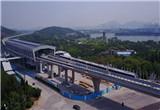 济南地铁价格听证中,航拍R1线试车场景