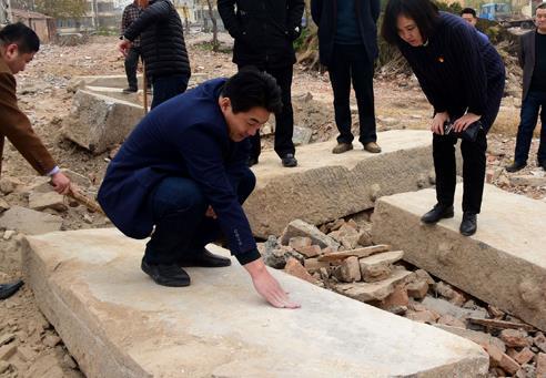 茌平出土400年前明代文庙古碑
