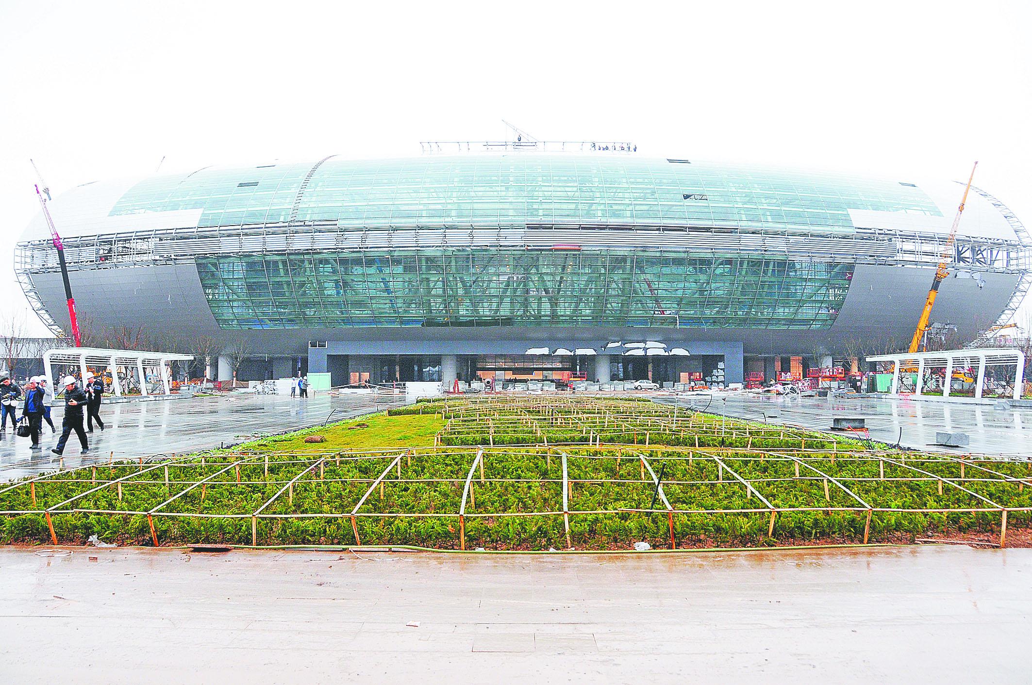 济青高铁淄博北站建设进入收尾阶段