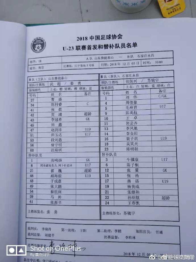 U23联赛:田鑫两球 鲁能3-0石家庄永昌