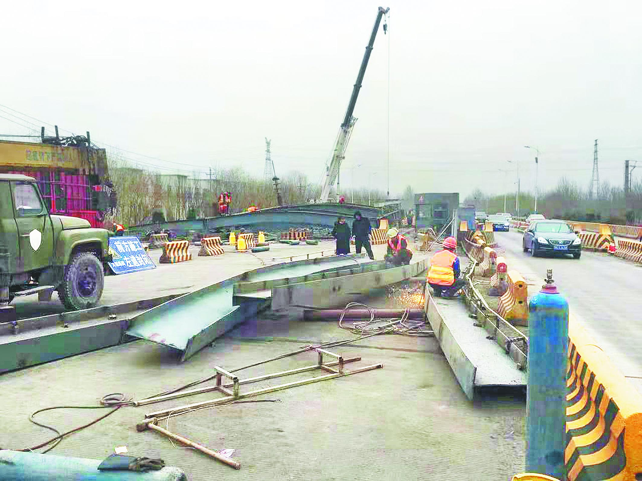 省道238高青收费站拆除完毕 依然实施路面半幅通车