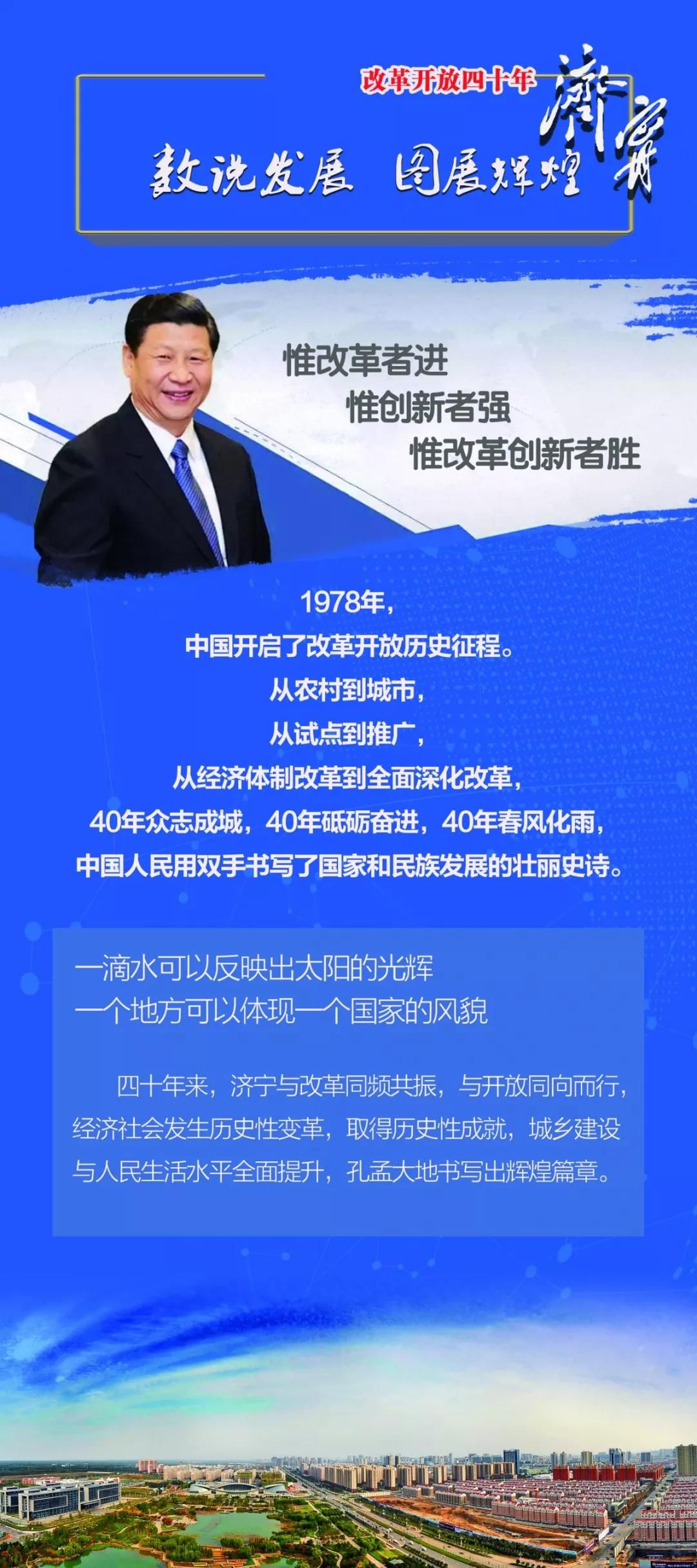 一图看懂,济宁改革开放四十年巨变!