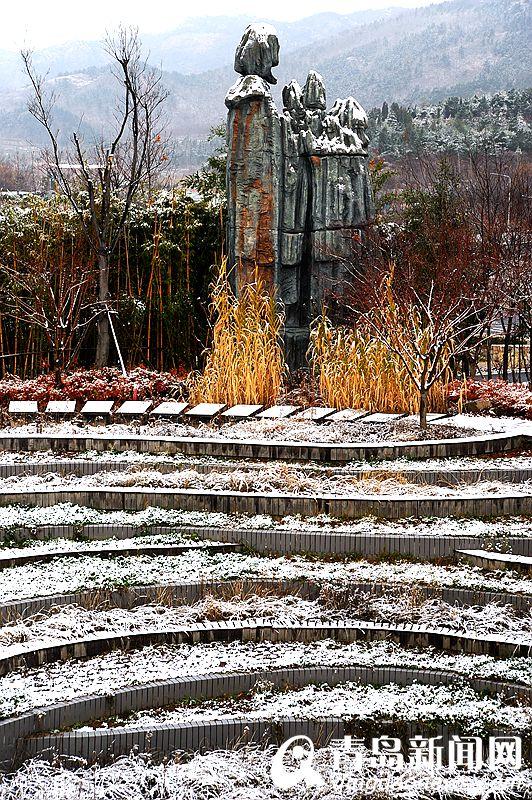 高清:世园会雪后美图刷屏来袭 浓缩版千里江山披银装