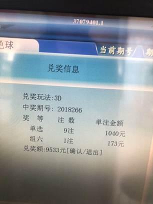 9401站3D中9533元