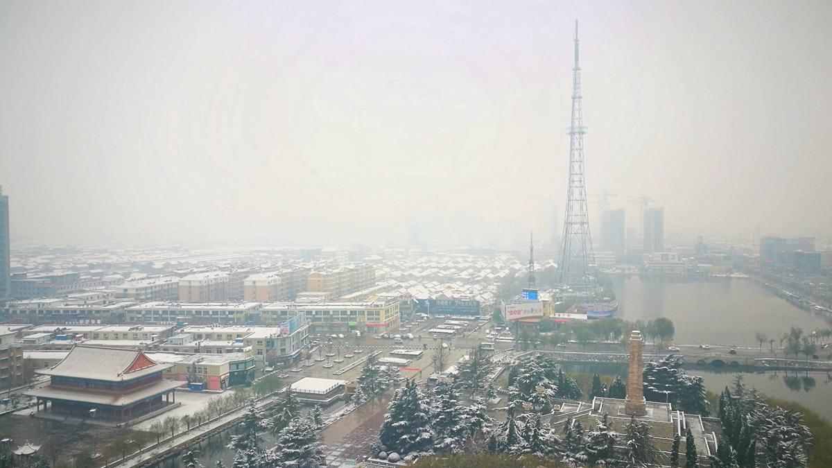 """枣庄菏泽等多地降雪 银装素裹的城市""""火遍""""朋友圈"""