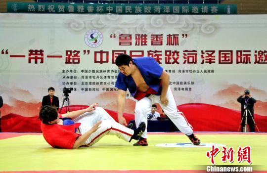 """2018""""一带一路""""中国民族跤国际邀请赛决赛落幕"""