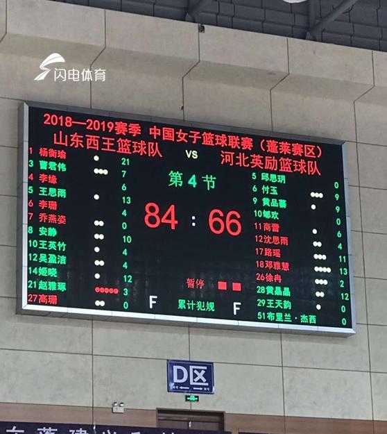 豪取三连胜!山东女篮主场84-66大胜河北女篮